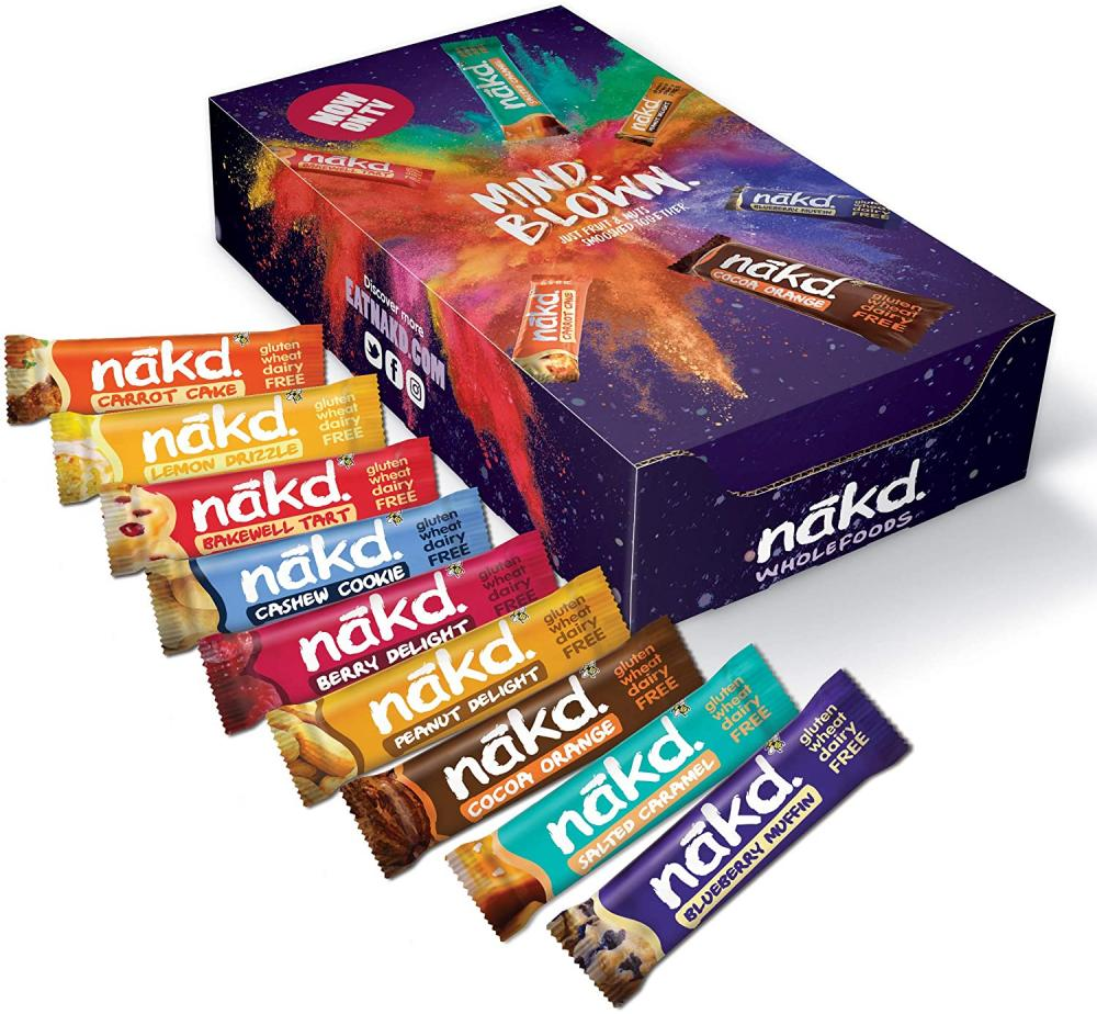 CASE PRICE  Nakd Mind Blown Fruit and Nut Bar Mixed 18 x 35g