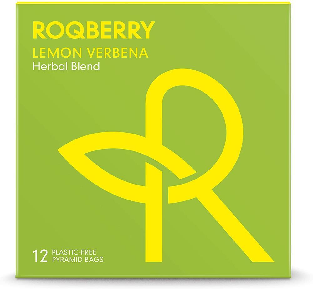 Roqberry Lemon Verbena Herbal Tea Blend 12 Pyramid Teabags