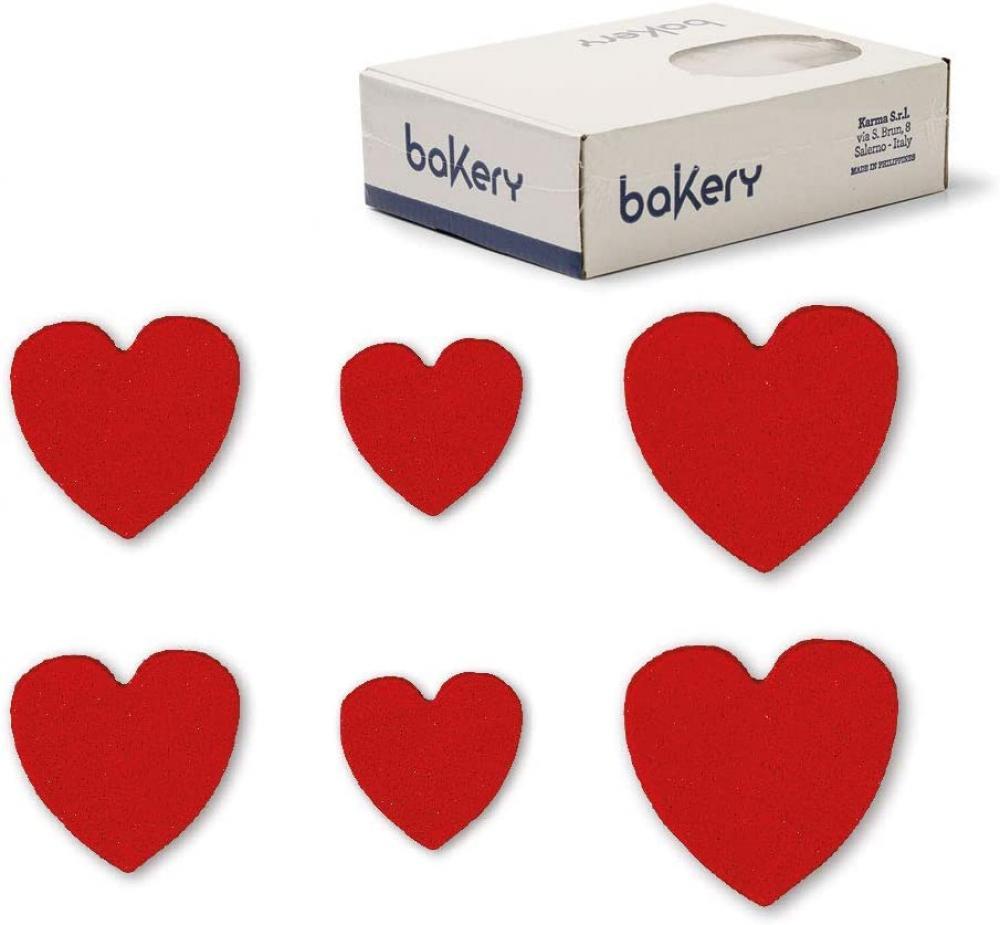 Bakery Sugar Hearts 150 Pcs
