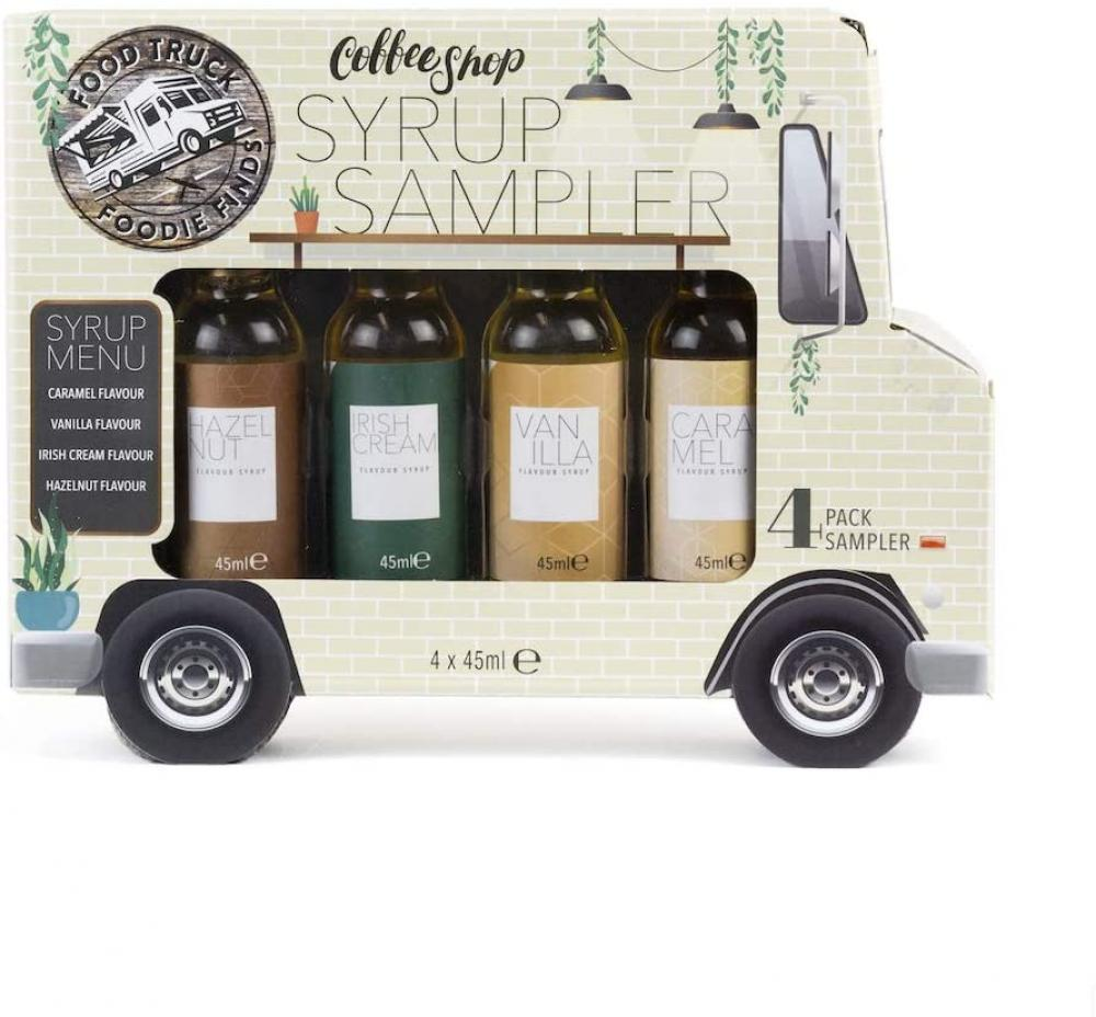 Modern Gourmet Foods Food Truck Coffee Shop Syrup Gift Set 4 x 45 ml