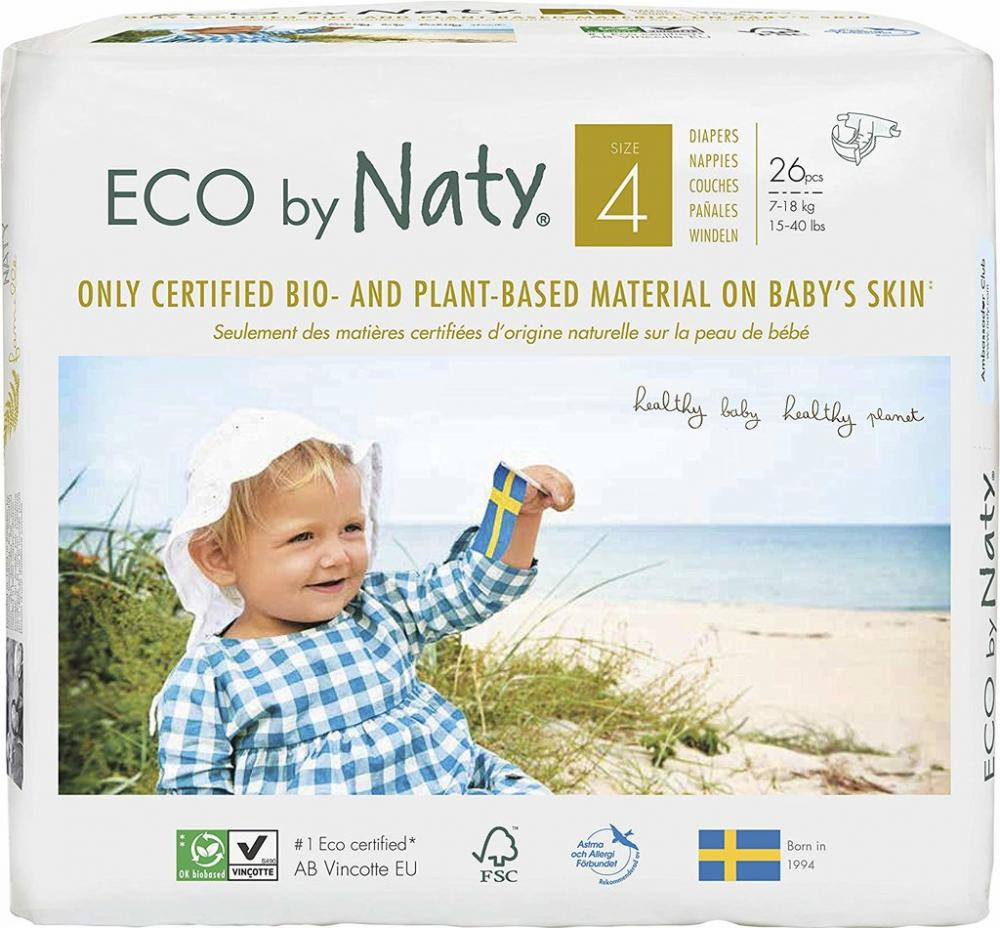 Naty By Nature Diapers 26 Pack Size 4