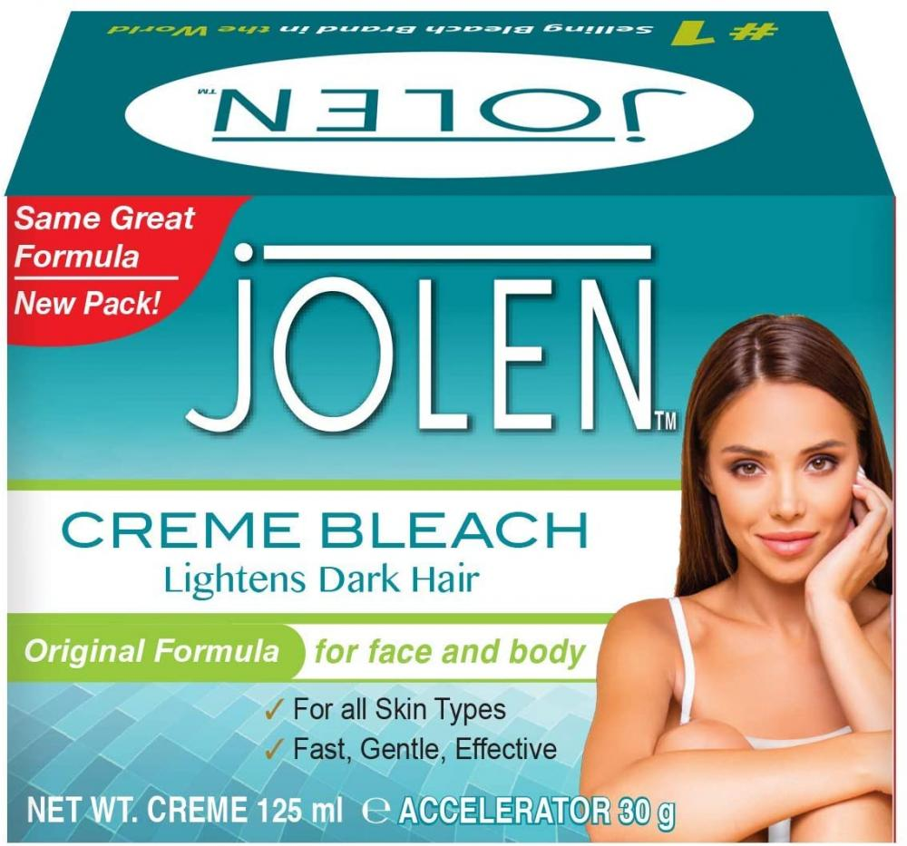 Jolen Creme Bleach Original - Lightens Excessively Dark Hair 125ml Damaged Box