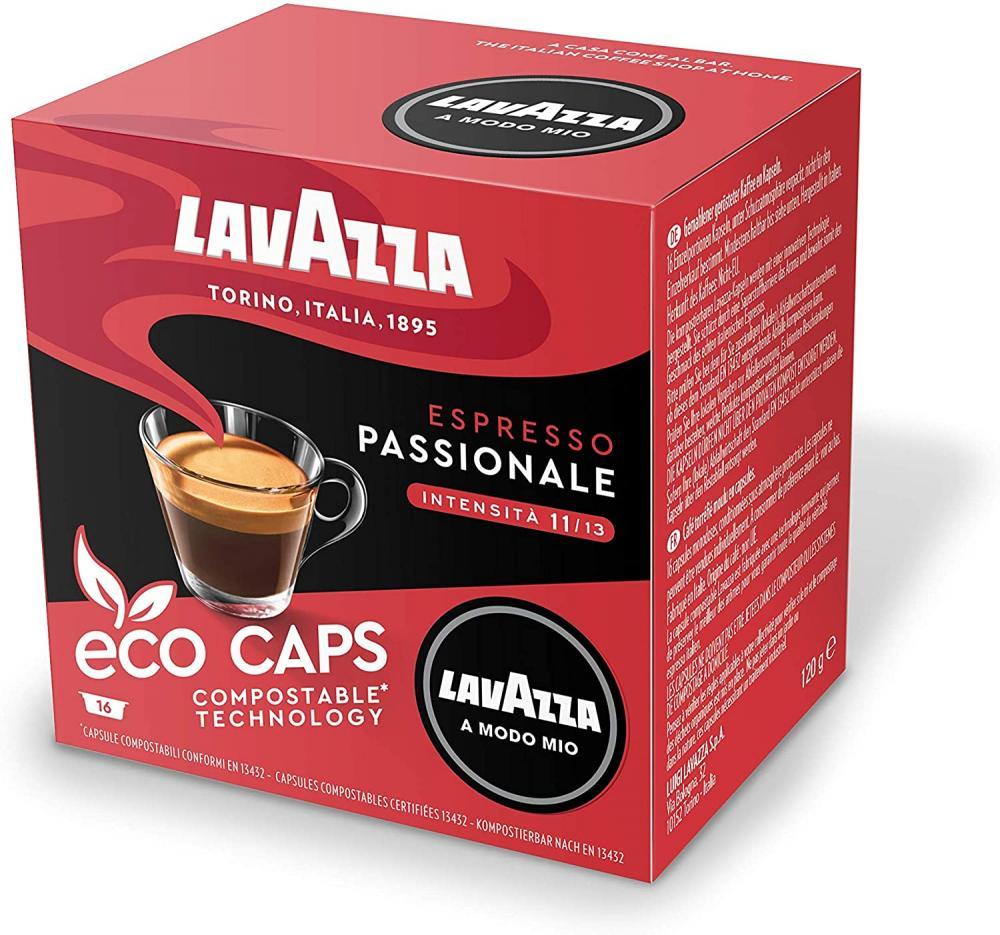 Lavazza A Modo Mio Eco Caps Coffee Pods Espresso Passionale 16 Capsules