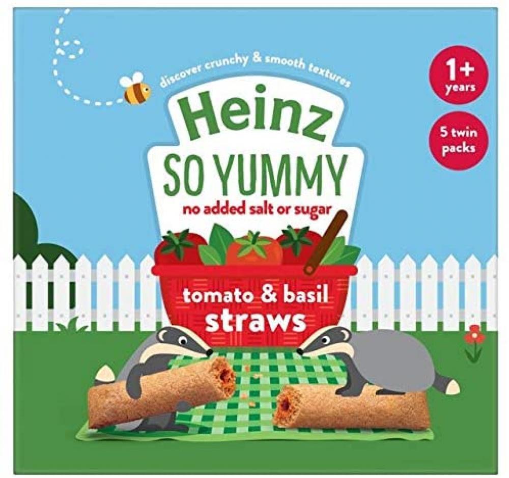 Heinz Infant Tomato and Basil Straws 5x15g