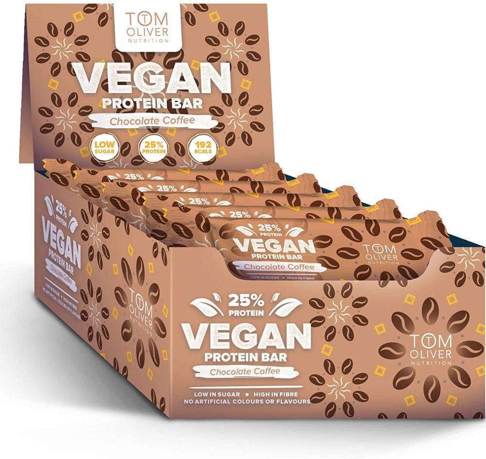 Tom Oliver Nutrition Vegan High Protein Bar 55g