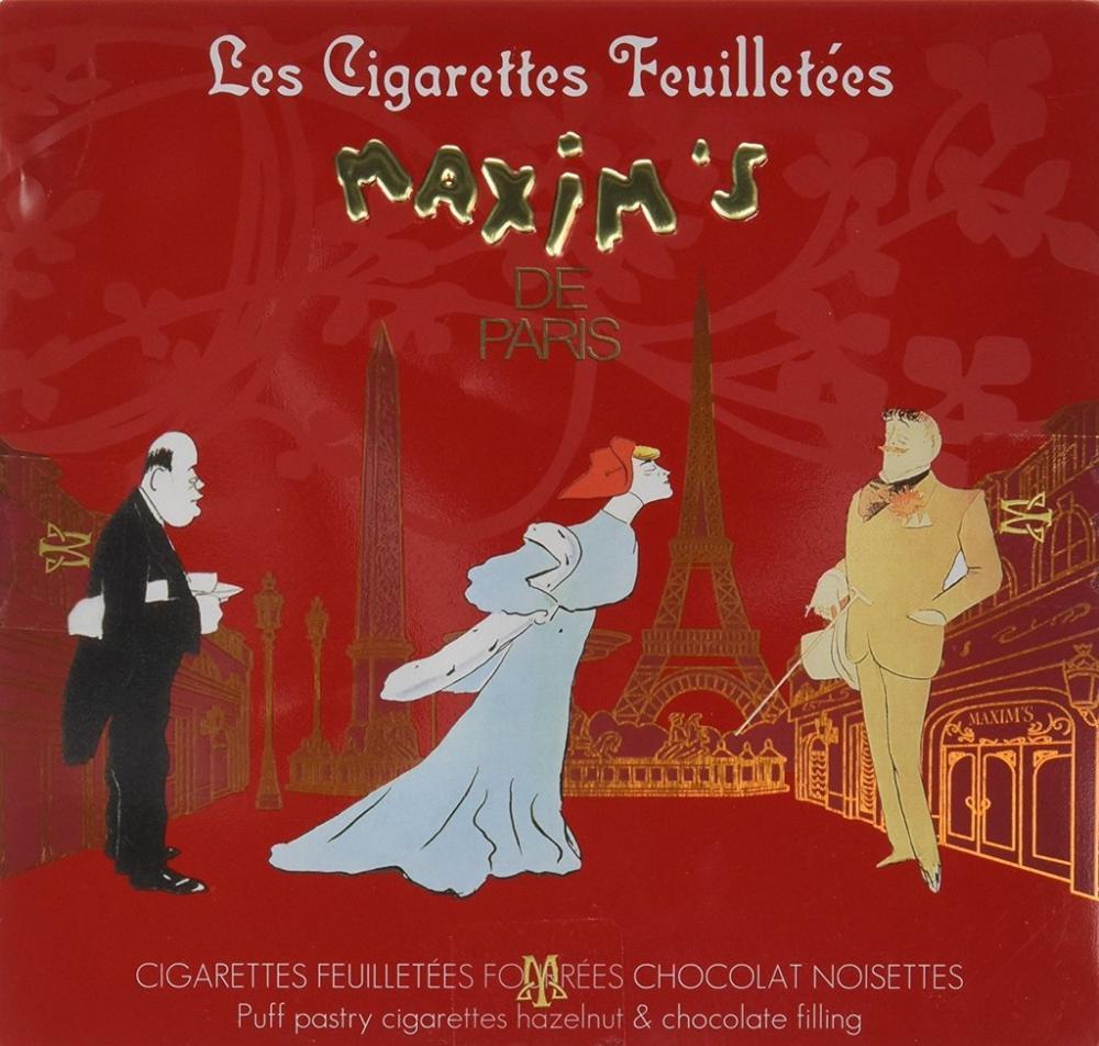 Maxims de Paris Chocolate and Hazelnuts Cigarettes 90g
