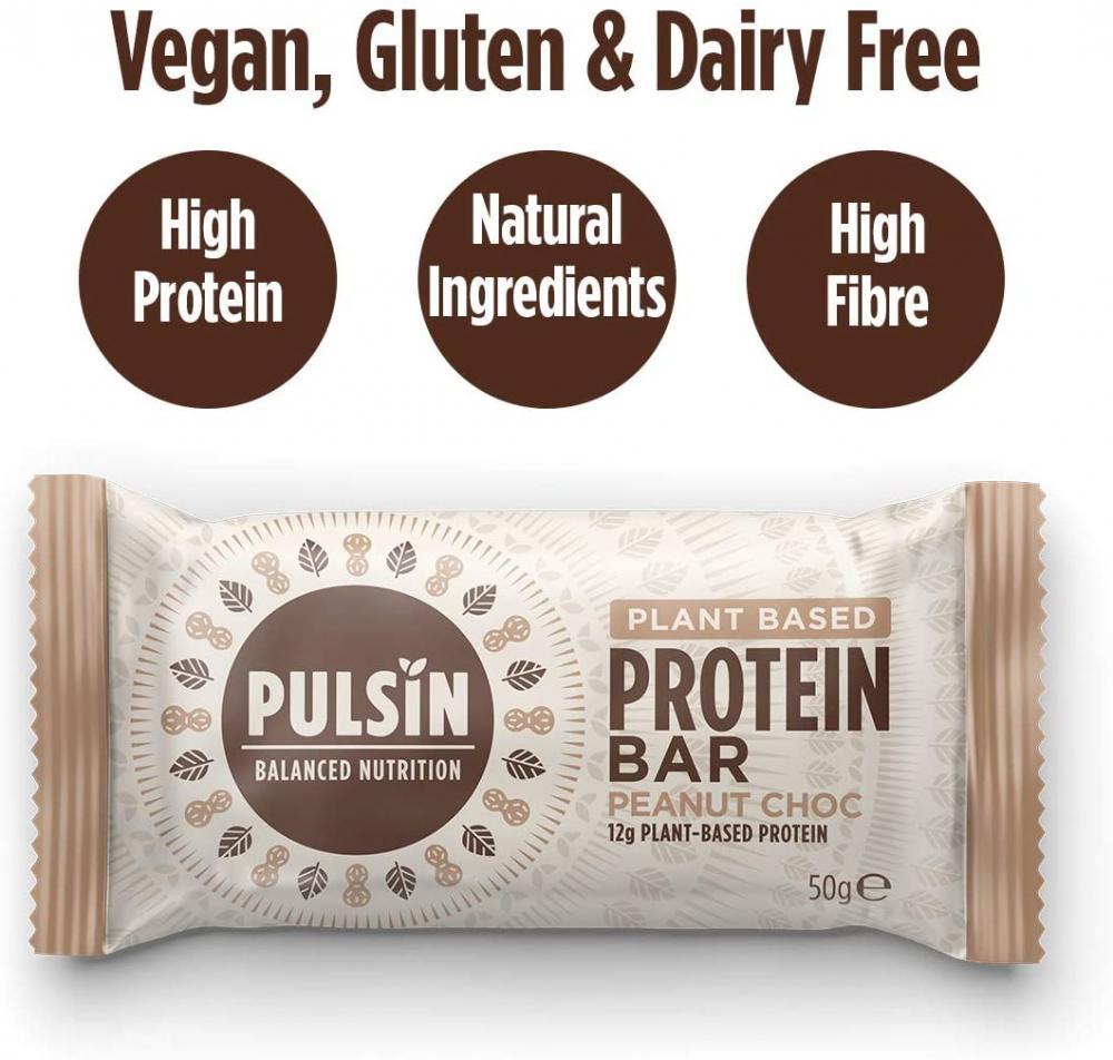 Pulsin Peanut Choc Chip Protein Bar 50 g