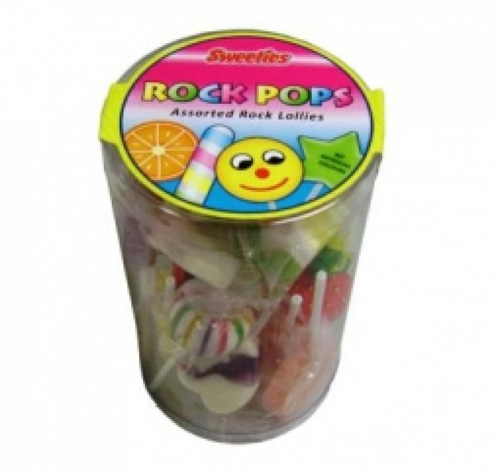 Sweeties Rock Pops Assorted Rock Lollies 170g