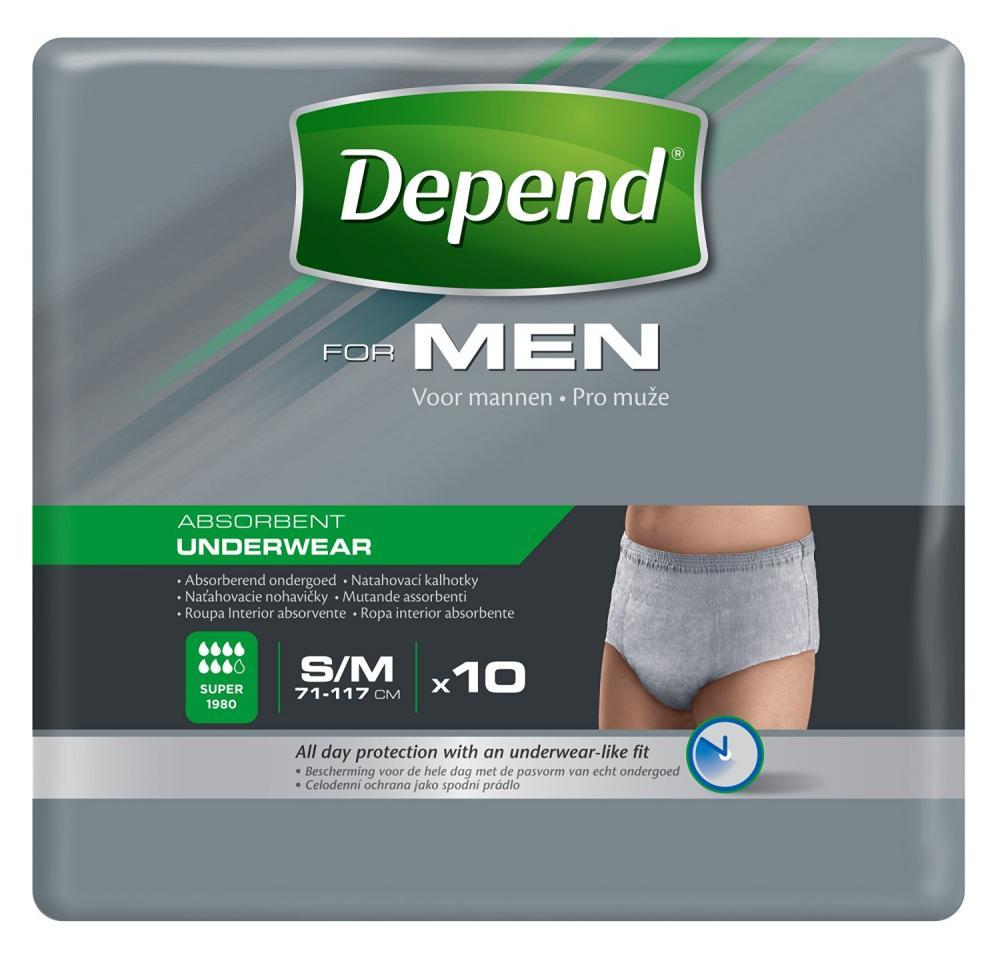 Depend Incontinence Underwear for Men Super Absorbent SM 10 Pack