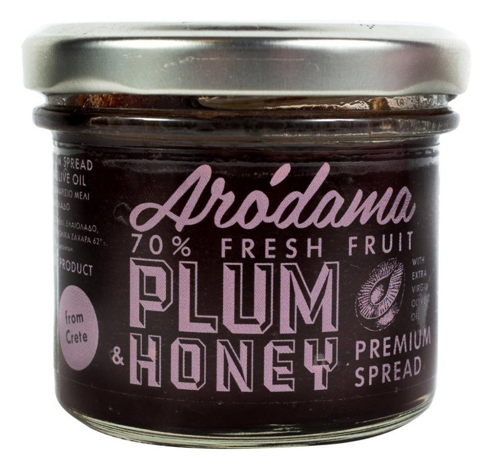 Arodama Premium Plum Spread with Honey and Extra Virgin Olive Oil 120g