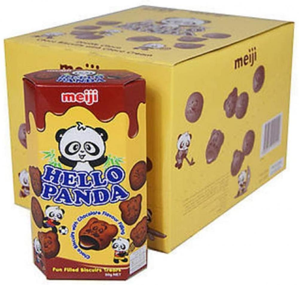 Meiji Hello Panda Chocolate Biscuits with Chocolate Flavour Filling 50g
