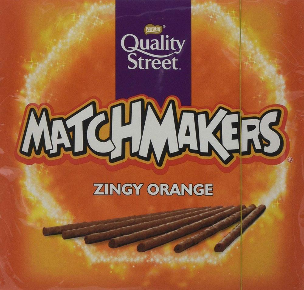 Nestle Quality Street Zingy Orange Matchmakers Chocolates 120g