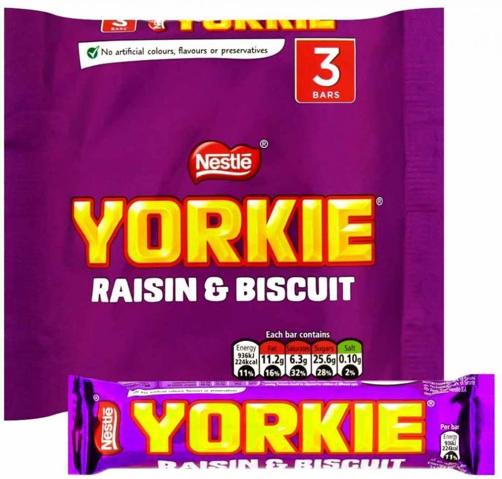 Nestle Yorkie Raisin and Biscuit 3 x 44g
