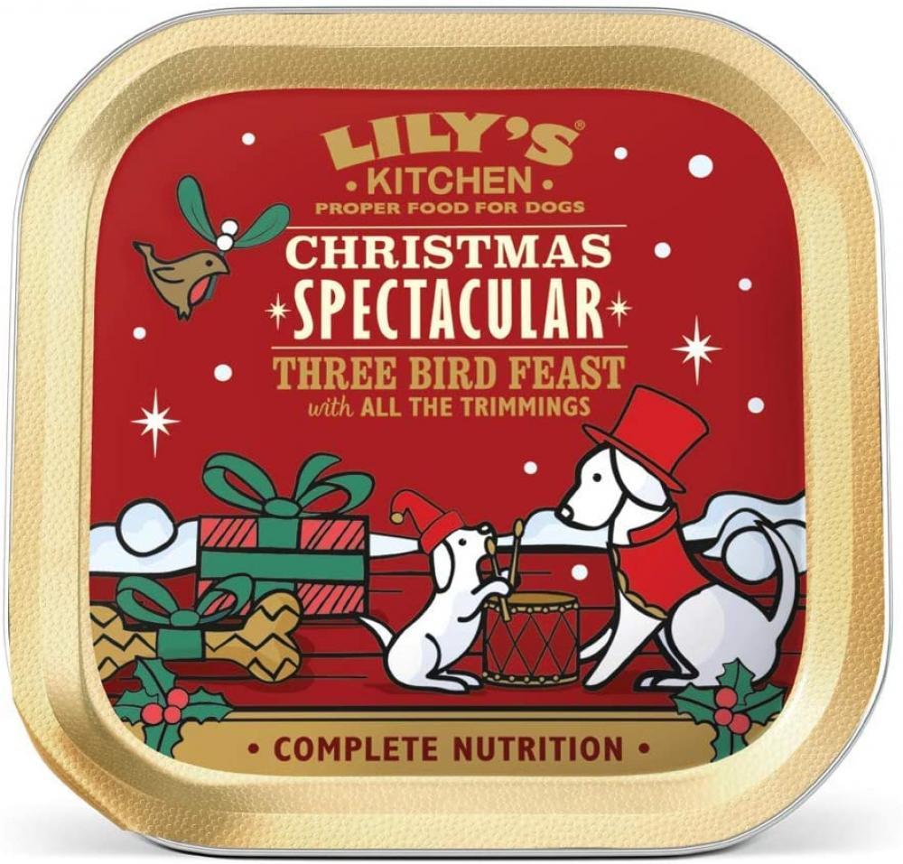 Lilys Kitchen Christmas Spectacular Three Bird Feast Wet Dog Food 150g