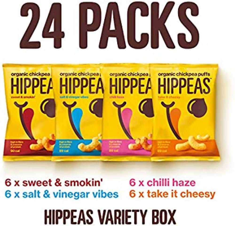 CASE PRICE  Hippeas Organic Chickpea Puffs Mixed Variety 24 x 22g