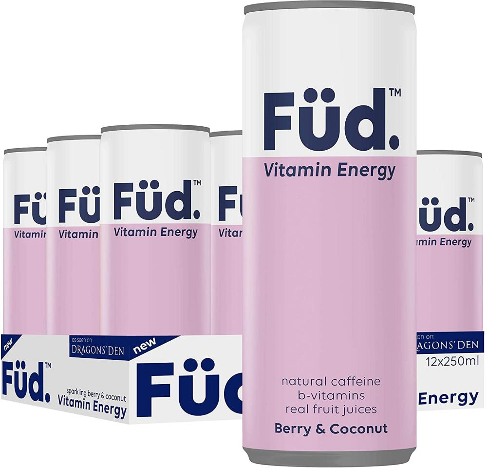 Brain Fud Vitamin Energy Fruity Sparkling Water Berry and Coconut 250ml