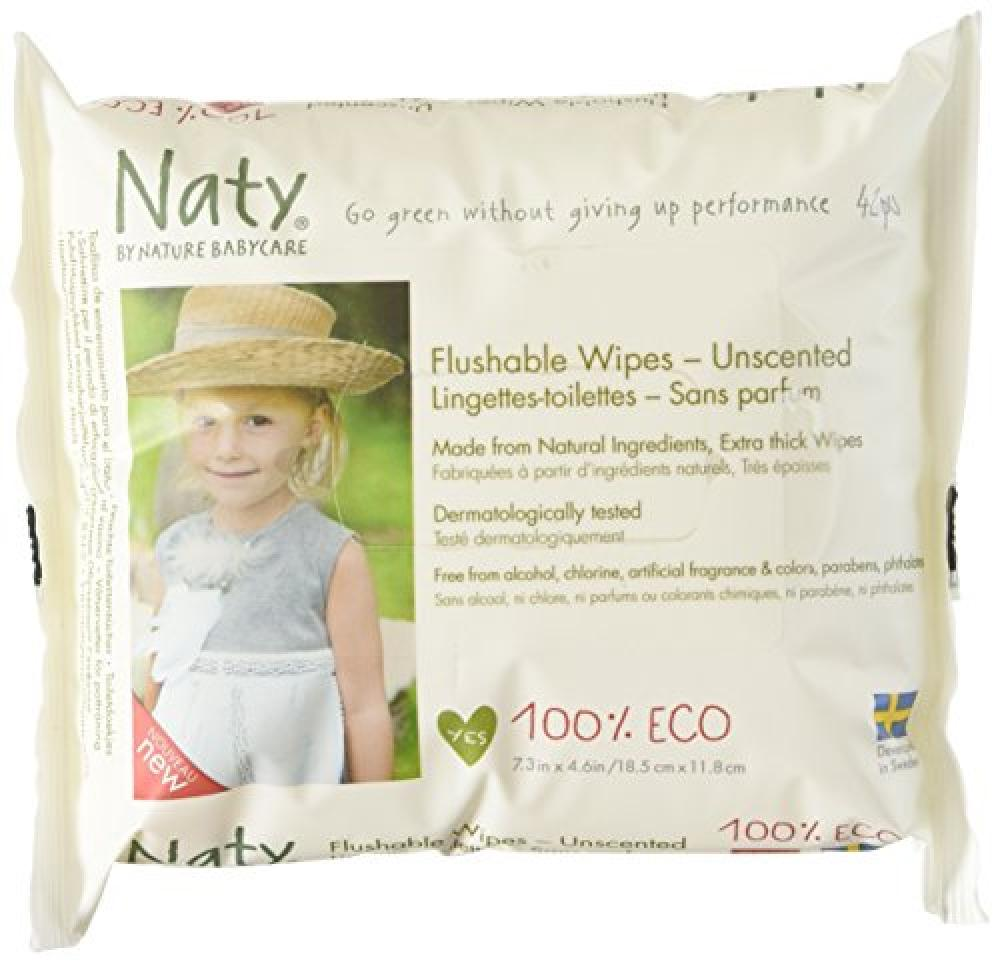 Nature Babycare ECO Flushable Unscented Wipes - Pack of 42