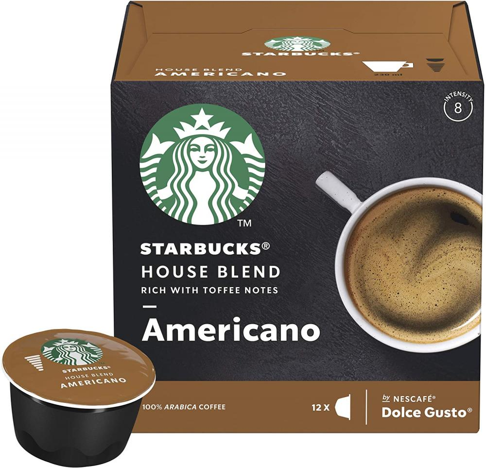 Starbucks House Blend By Nescafe Dolce Gusto Medium Roast Coffee Pods Americano 102 g