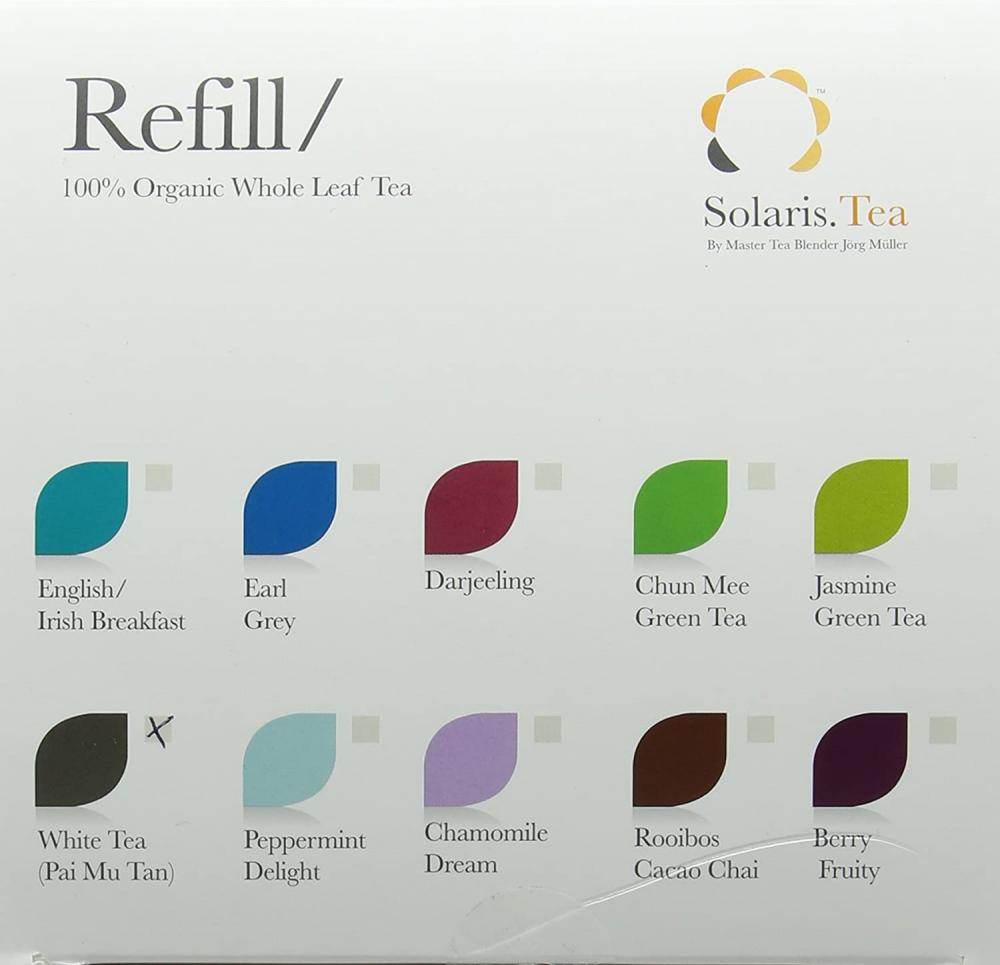 Solaris.Tea Organic Pai Mu Tan White Tea 40x1.5g