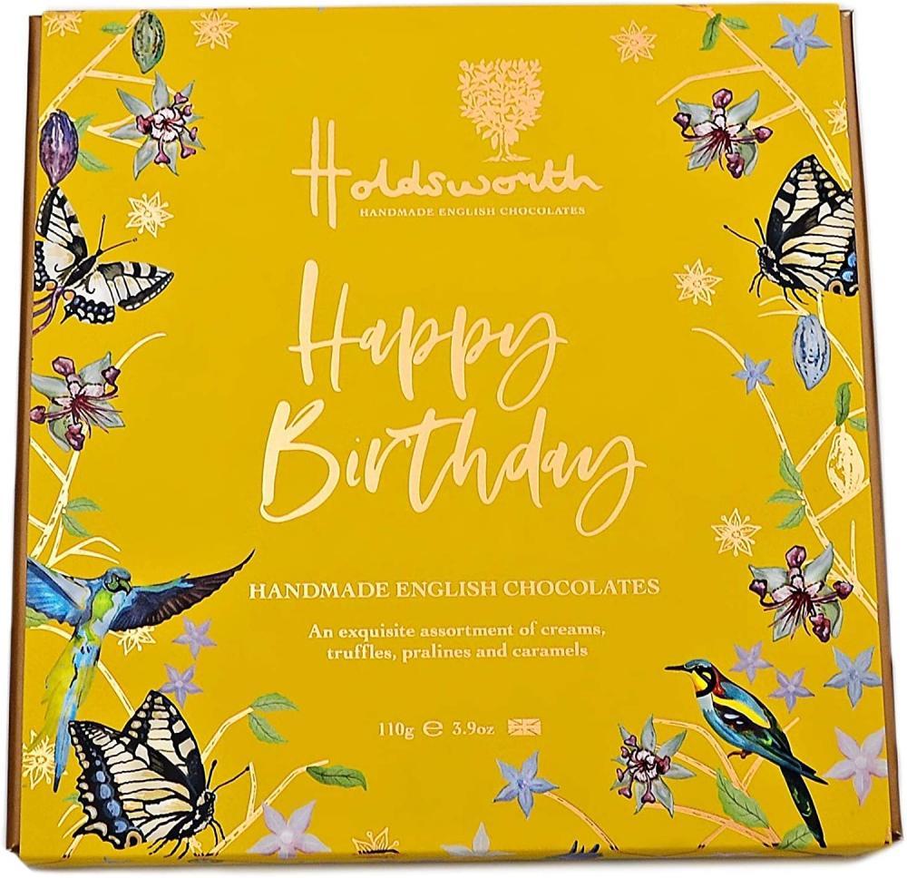 Holdsworth Chocolates Happy Birthday Gift Box of Handmade Truffles with Assorted Milk 110g
