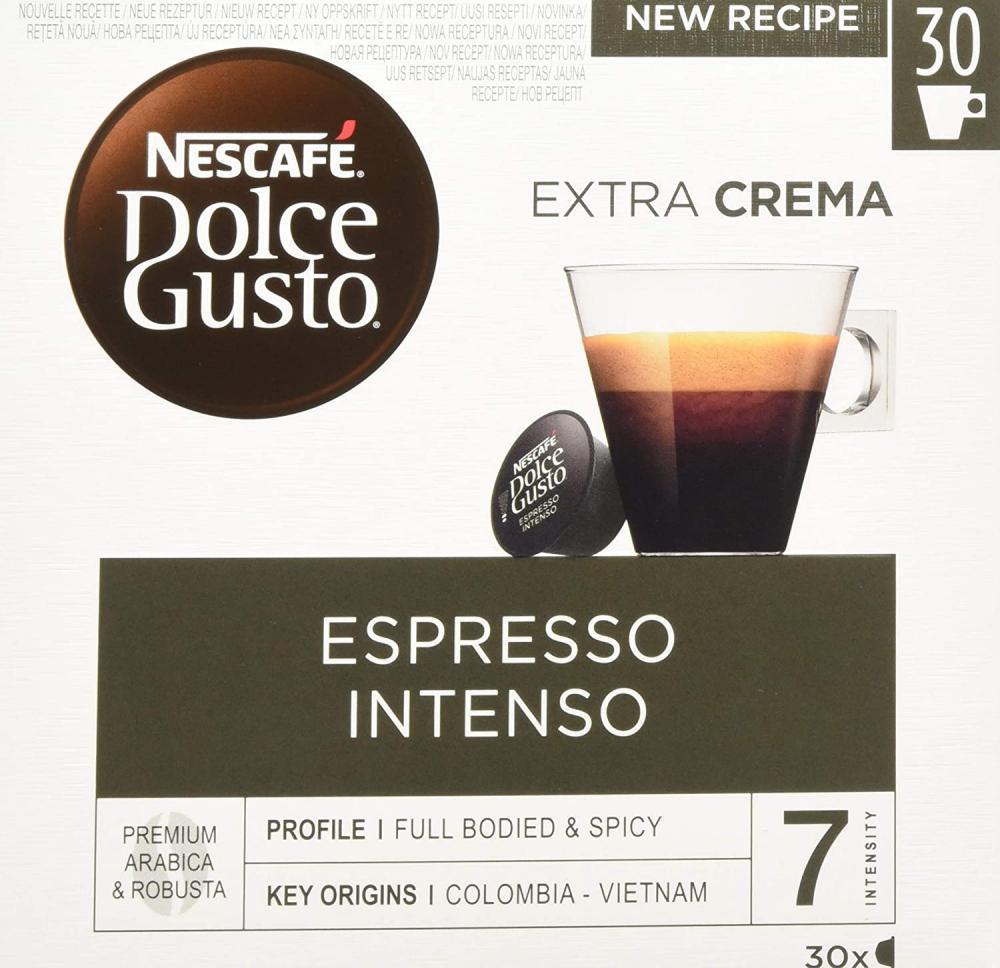 Nescafe Dolce Gusto Espresso Intenso Coffee Pods 30 Capsules