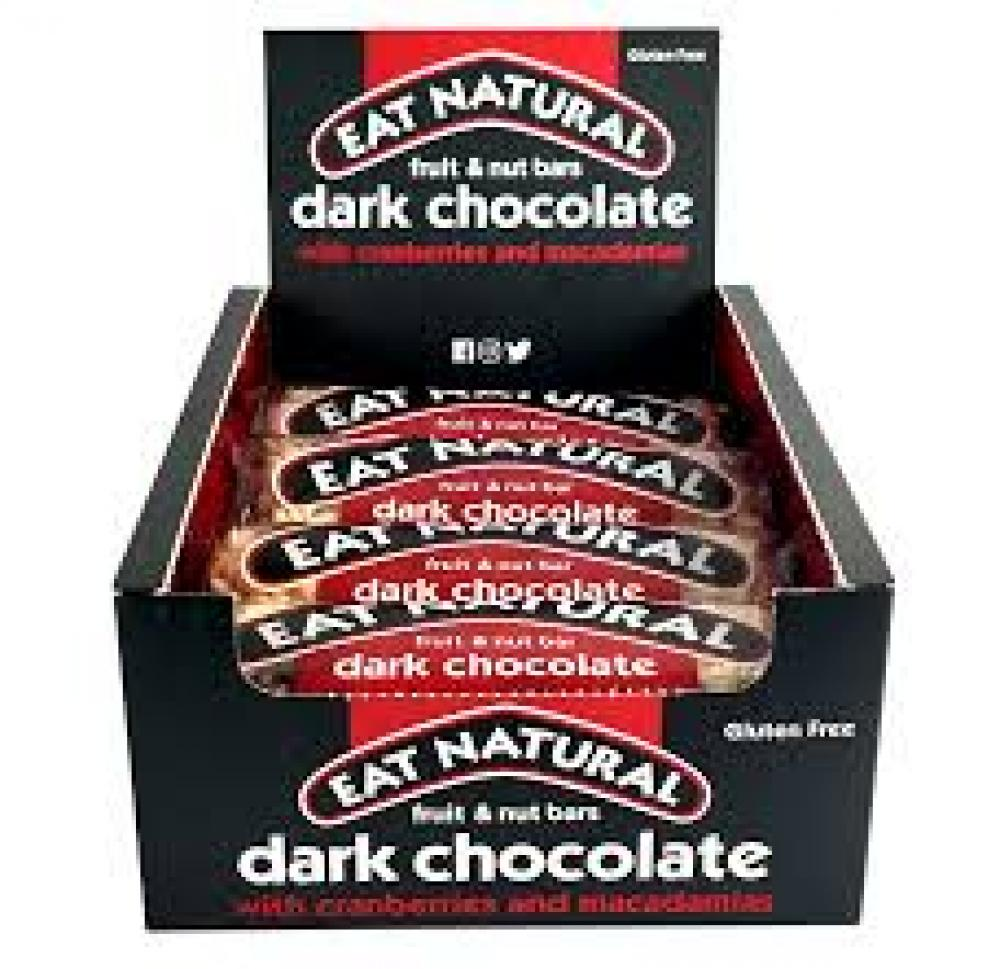 CASE PRICE  Eat Natural Fruit and Nut Bar Dark Chocolate Cranberries and Macadamias 12 x 45g