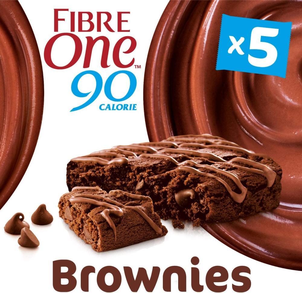 Fibre One 90 Calorie Chocolate Fudge High Fibre Brownies 5 x 24g