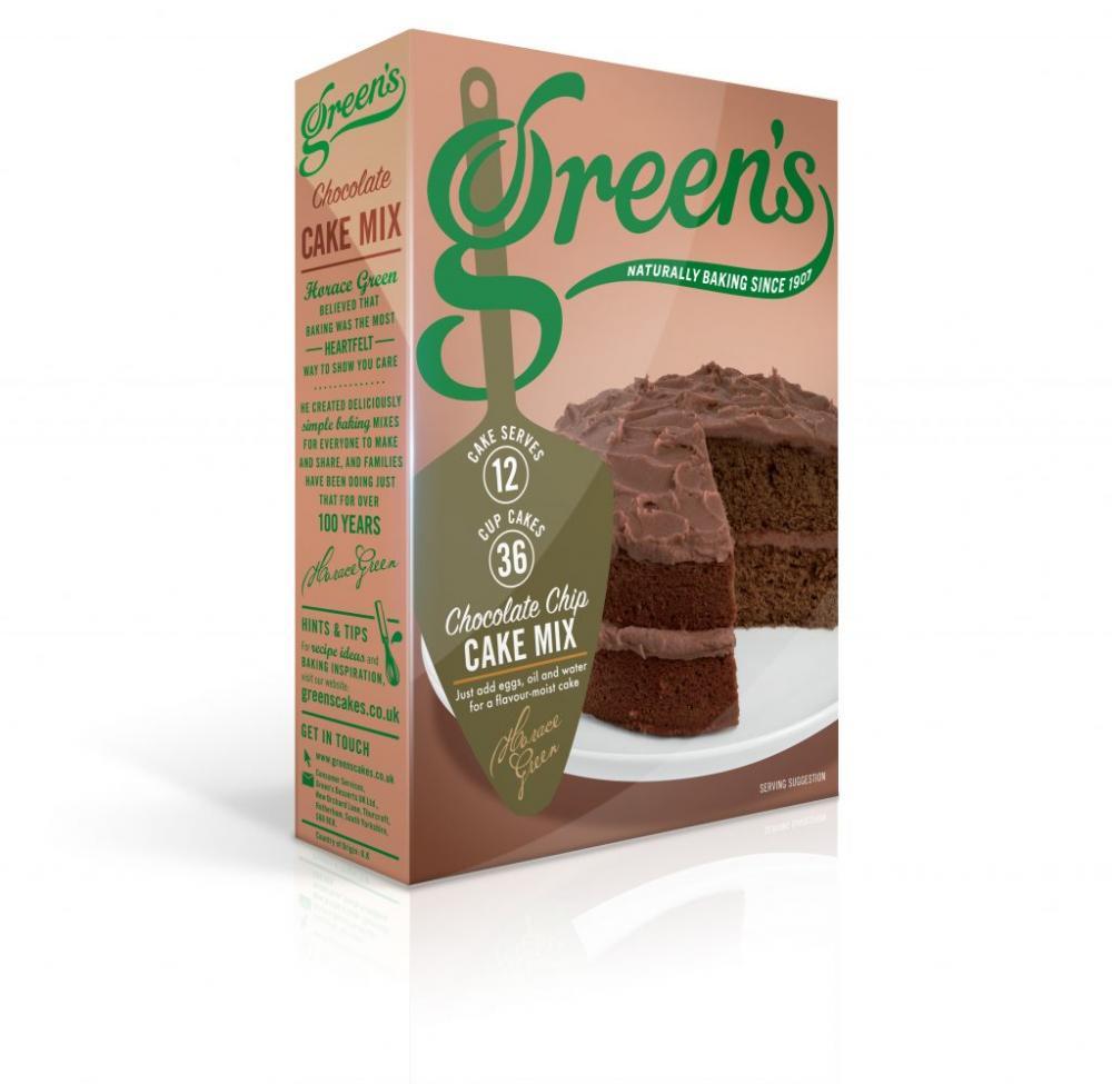 Greens Chocolate Chip Cake Mix 500g