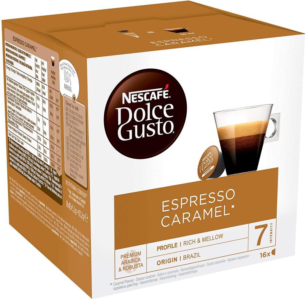 Nescafe Dolce Gusto Espresso Caramel 16 caps Damaged Box