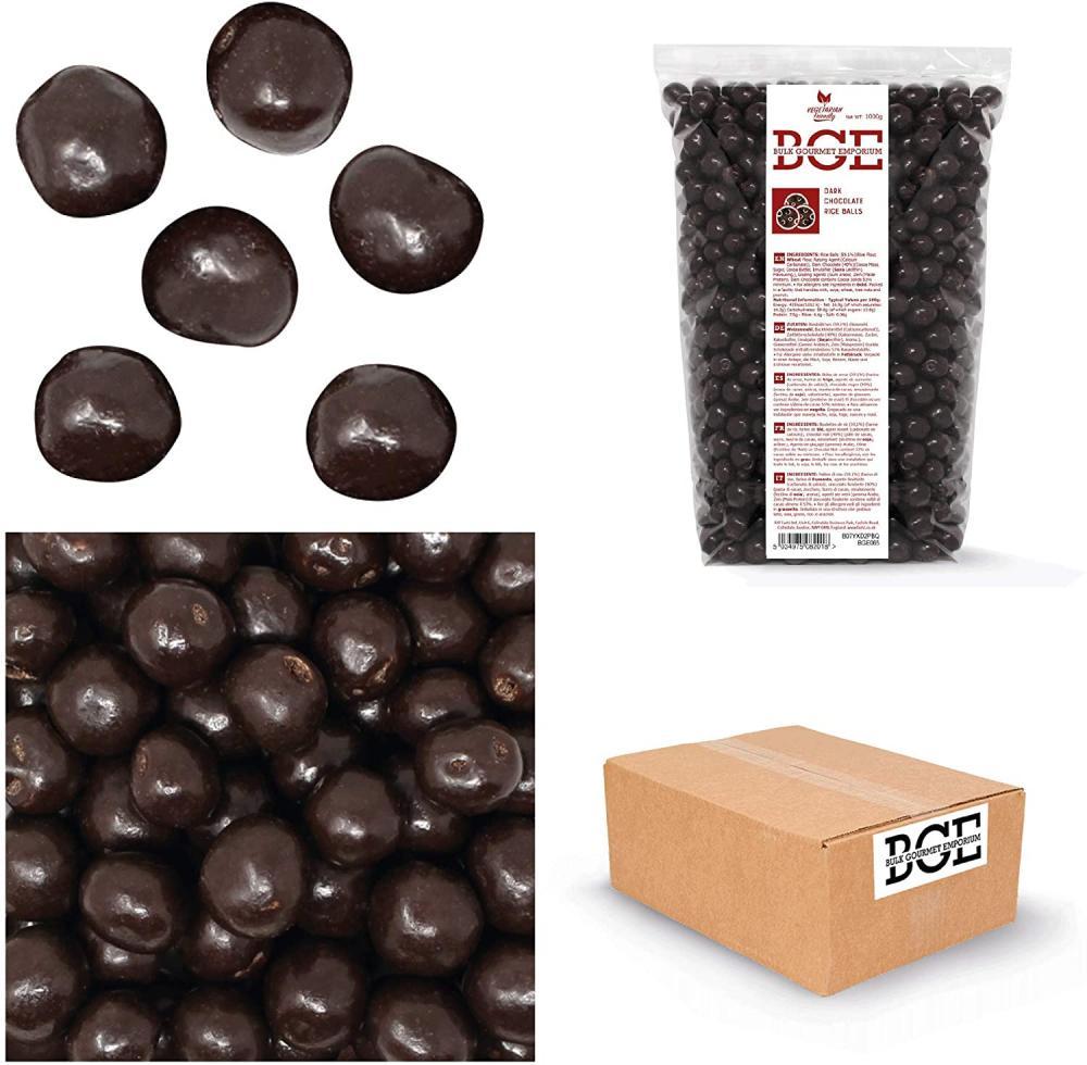 SALE  Bulk Gourmet Emporium Skinny Vegan Dark Chocolate Rice Balls 1kg