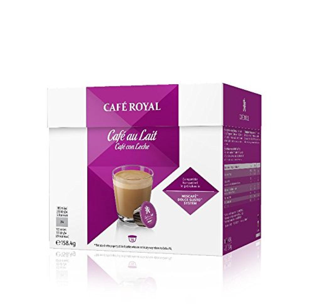 Cafe Royal Cafe au Lait 16 Capsules 158.4g Damaged Box