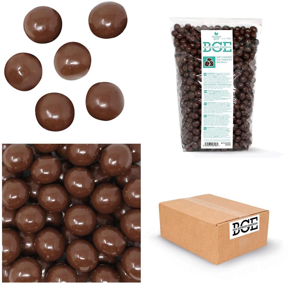 SALE  Bulk Gourmet Emporium Mint Milk Chocolate Rice Balls 1 kg