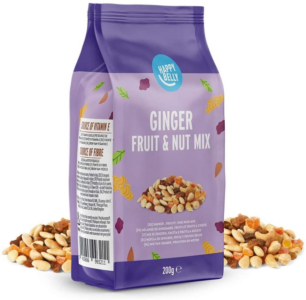 Happy Belly Ginger Fruit and Nut Mix 200 g
