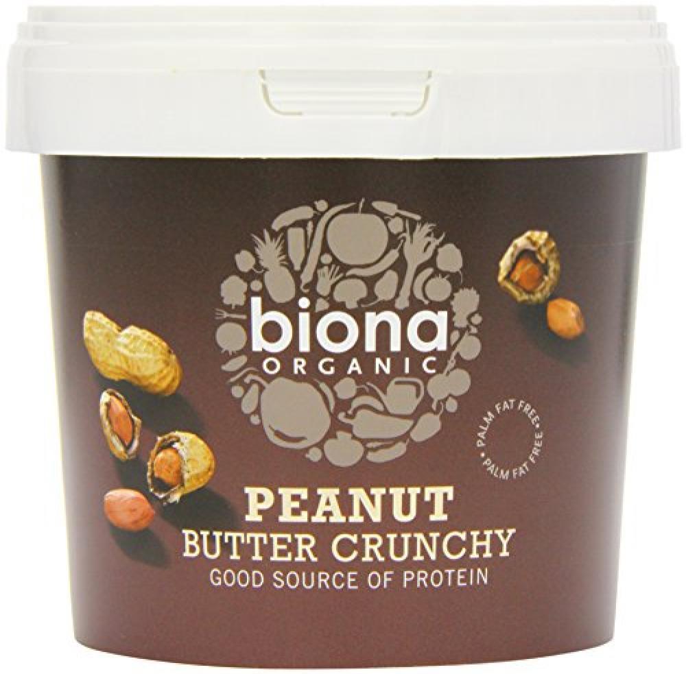 Biona Organic Peanut Butter Crunchy 1 Kg Damaged