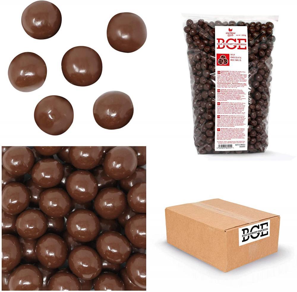 SALE  Bulk Gourmet Emporium Skinny Milk Chocolate Rice Balls 1kg
