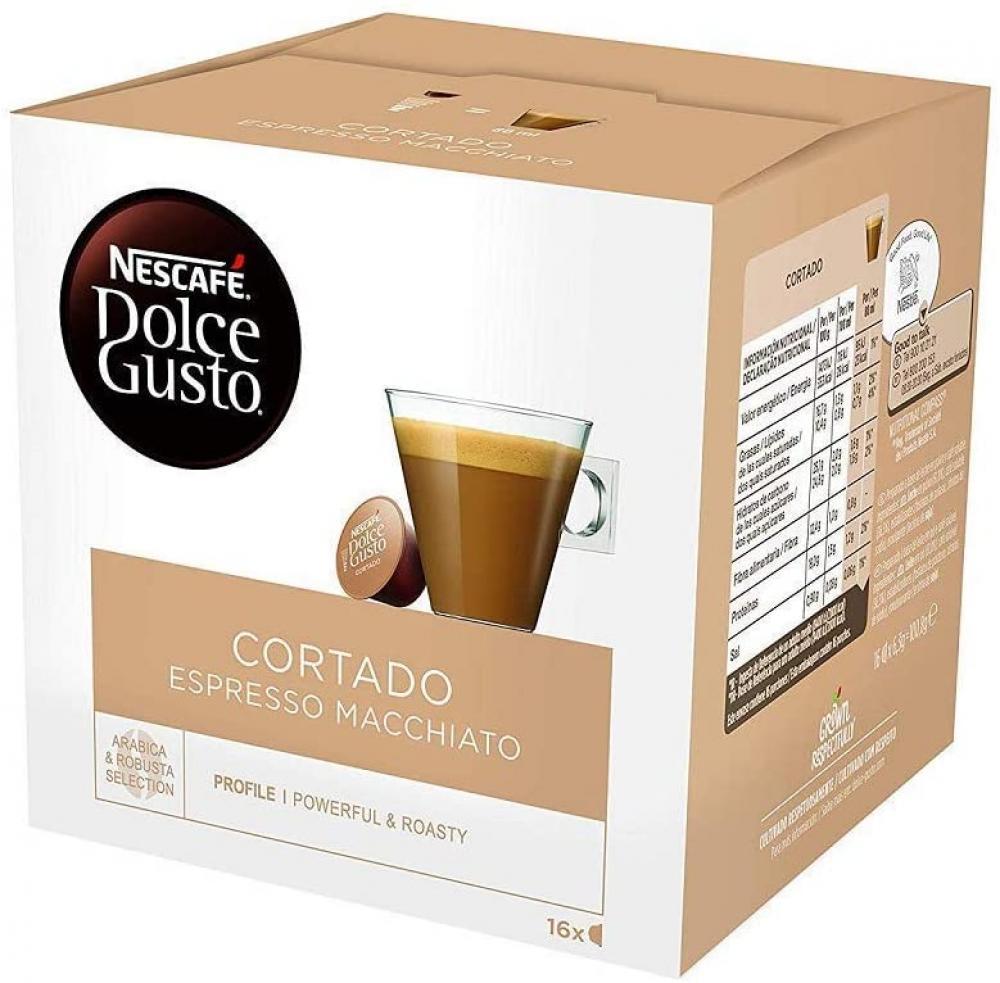 Nescafe Dolce Gusto Cortado Espresso Macchiato Coffee 30 capsules