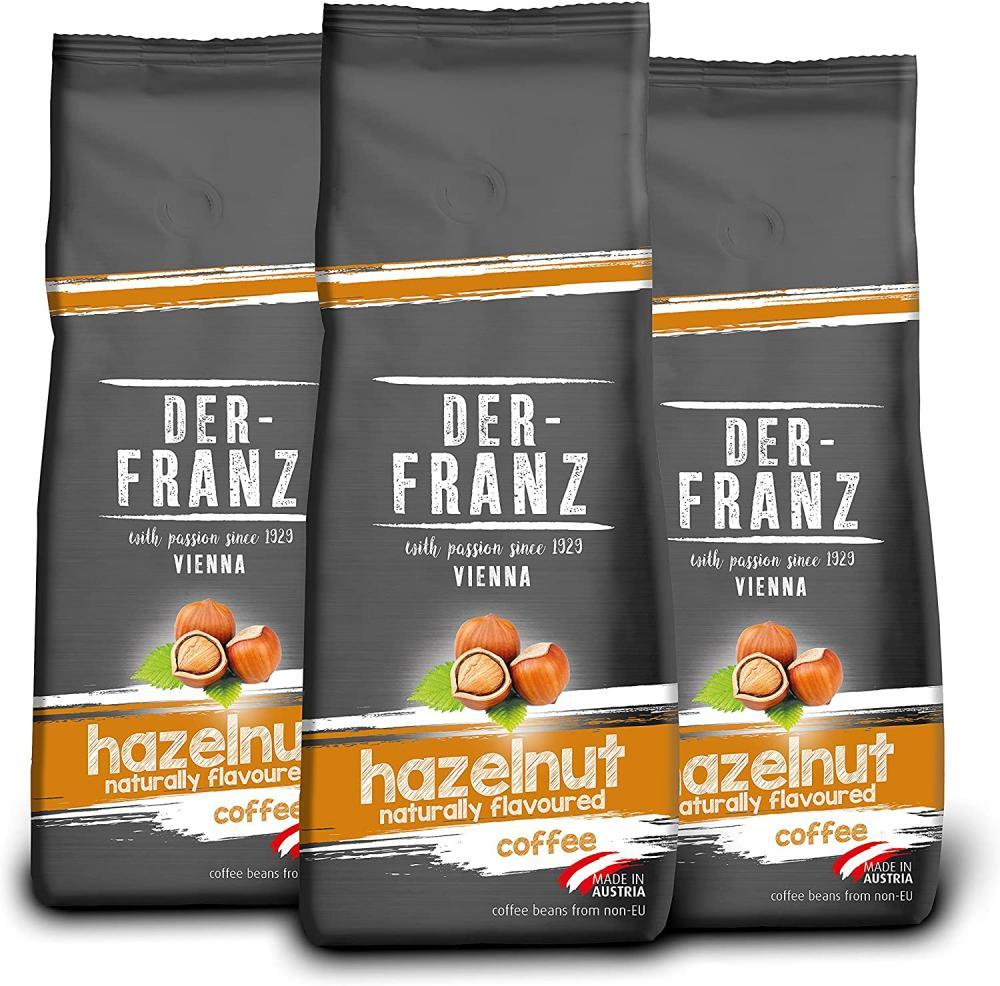 Der Franz Coffee Whole Bean Flavoured with Natural Hazelnut 500g