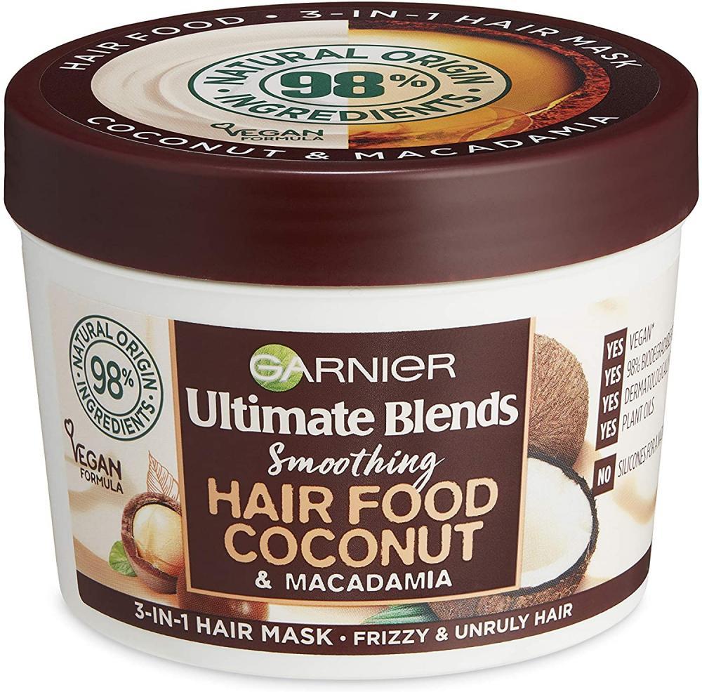 Garnier Ultimate Blends Hair Food Coconut Oil 3-in-1 Frizzy Hair Mask Treatment 390 ml
