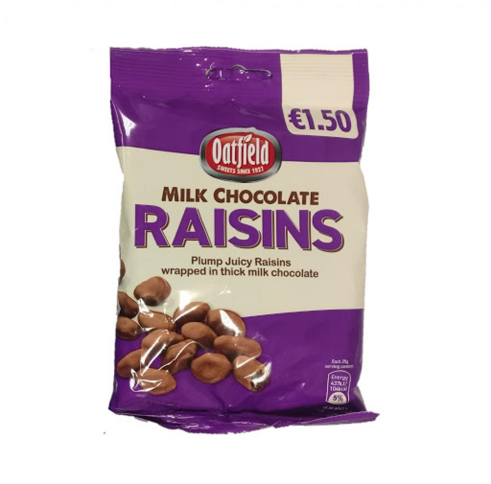 Oatfield Milk Chocolate Raisins 150g