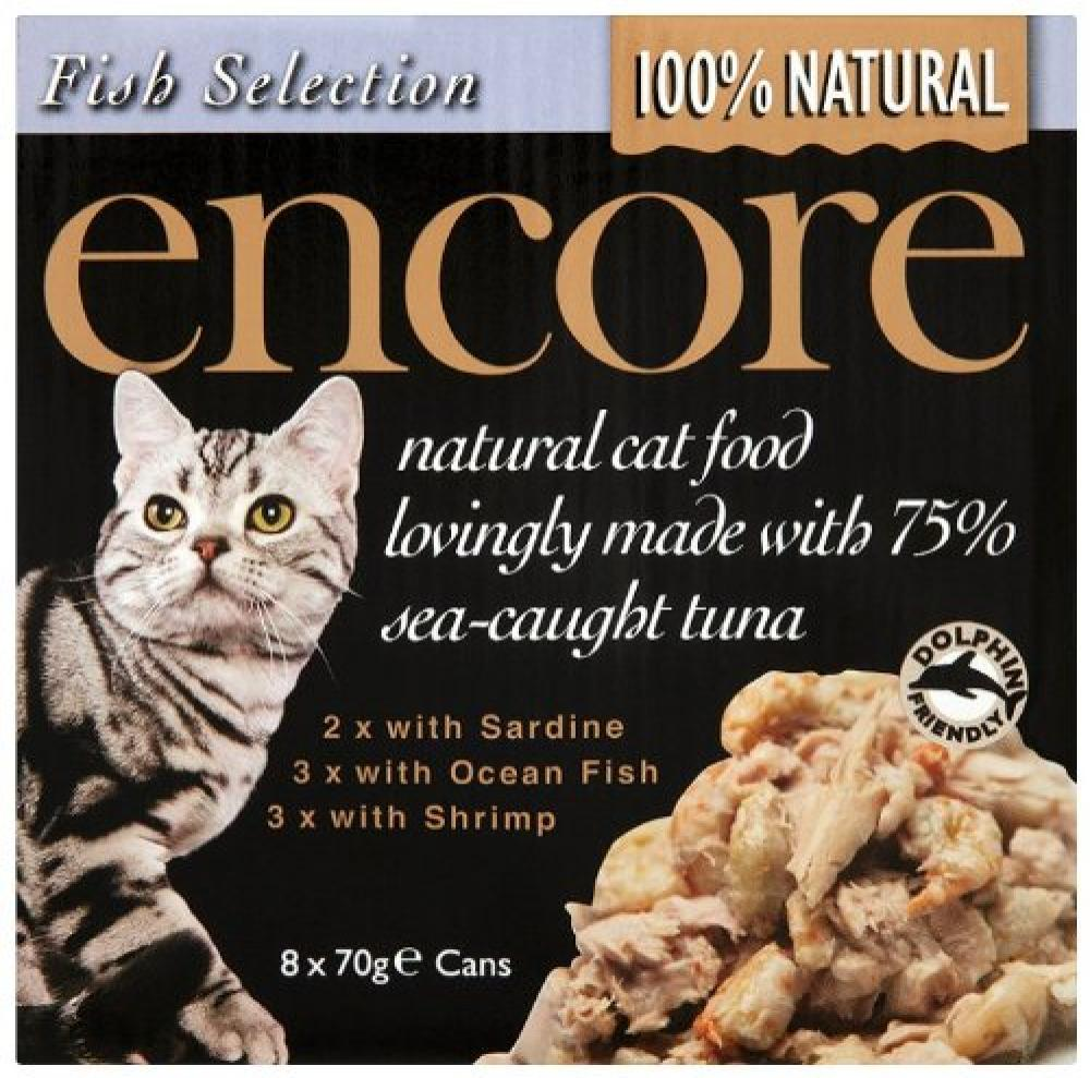 Encore Cat Food Tin Fish Multipack 8 x 70g