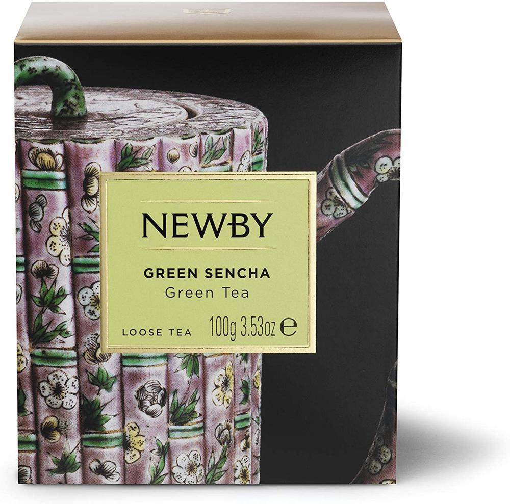 Newby Teas Green Sencha Loose Leaf Tea 100g Damaged Box