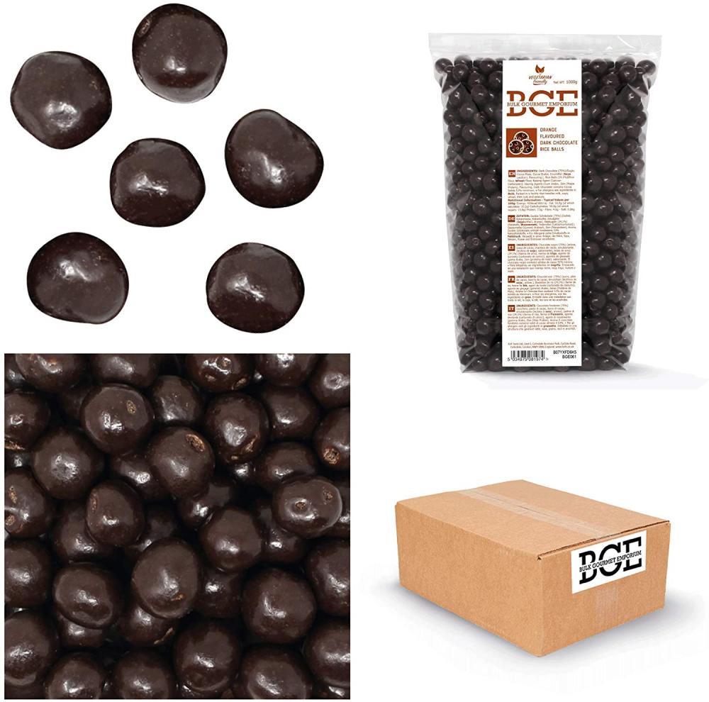 Bulk Gourmet Emporium Orange Flavoured Dark Chocolate Rice Ball 1 kg