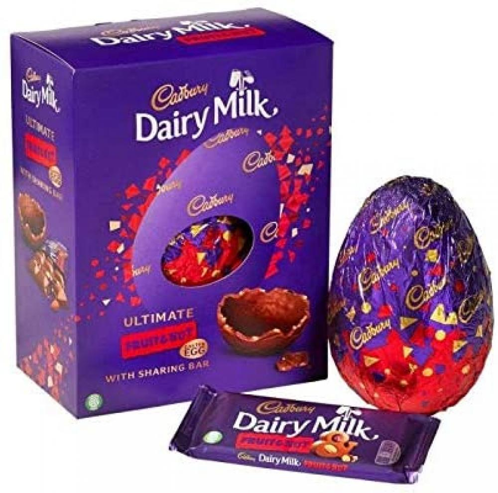 Cadbury Dairy Milk Ultimate Fruit and Nut Easter Egg With One Sharing Bar 532g
