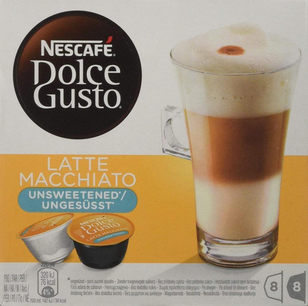 Nescafe Latte Macchiato Unsweetened Capsules 8 Servings