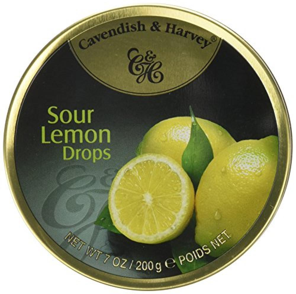 Cavendish and Harvey Travel Tin Sour Lemon Drops 200g