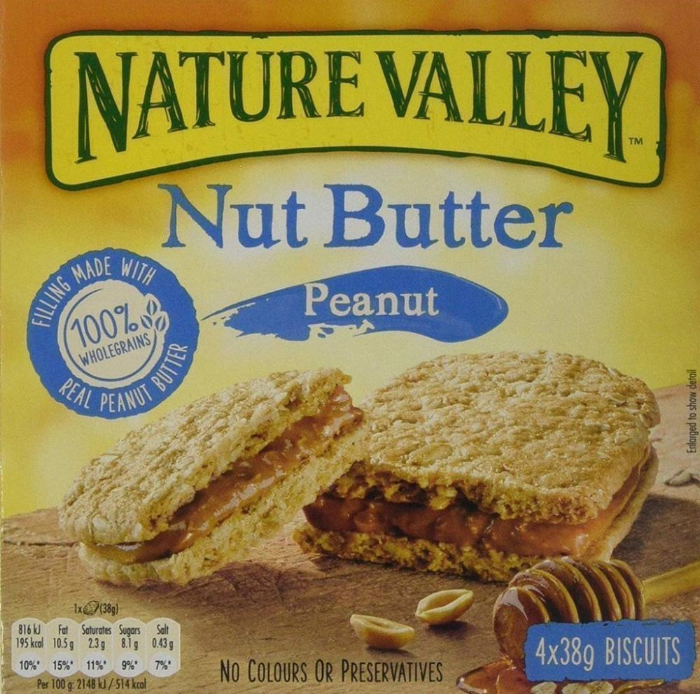 Nature Valley Nut Butter Peanut 4 Bars 152g Damaged Box