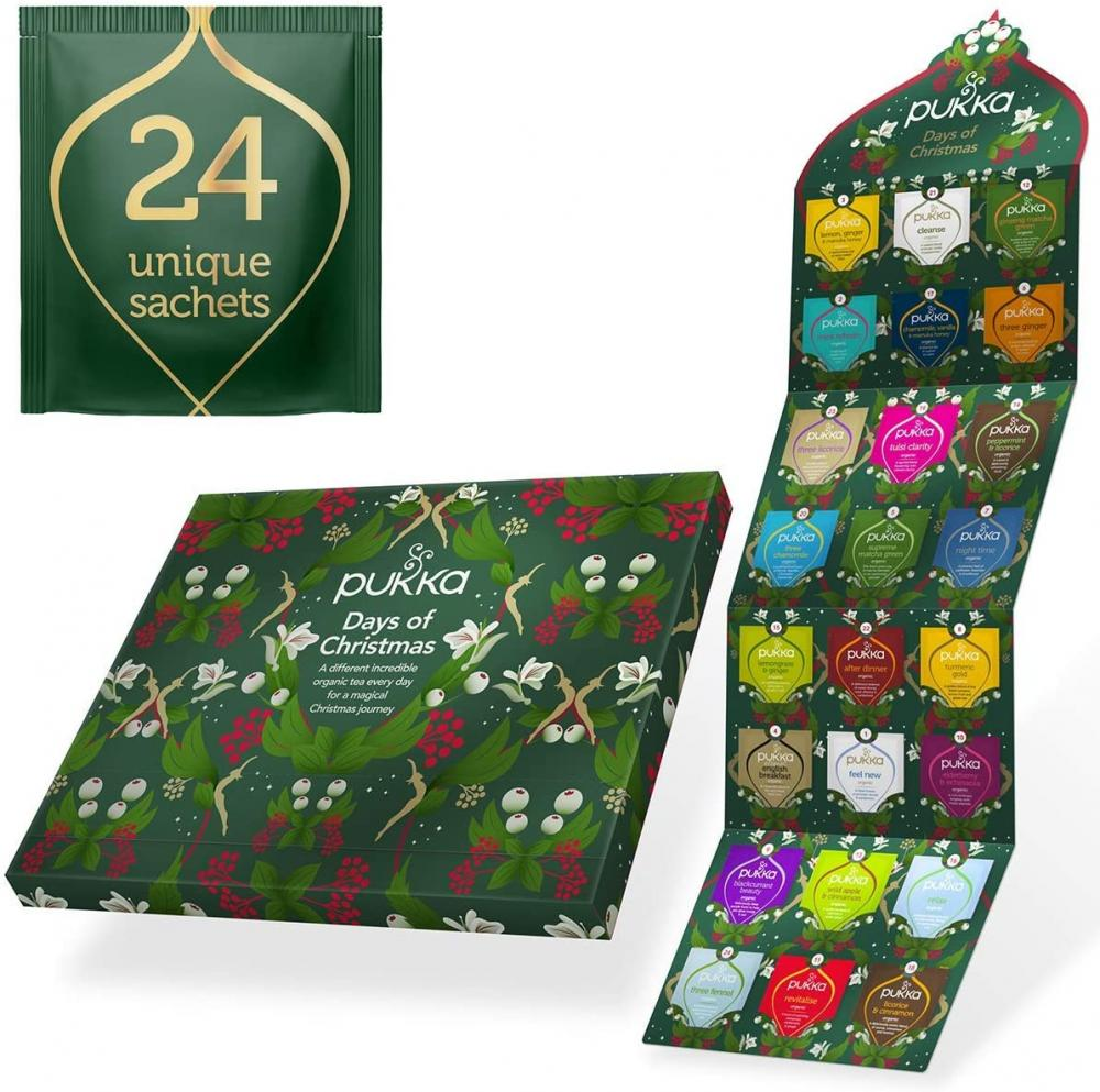 Pukka Herbs Tea Advent Calendar 2020 24 Tea Sachets Damaged Box