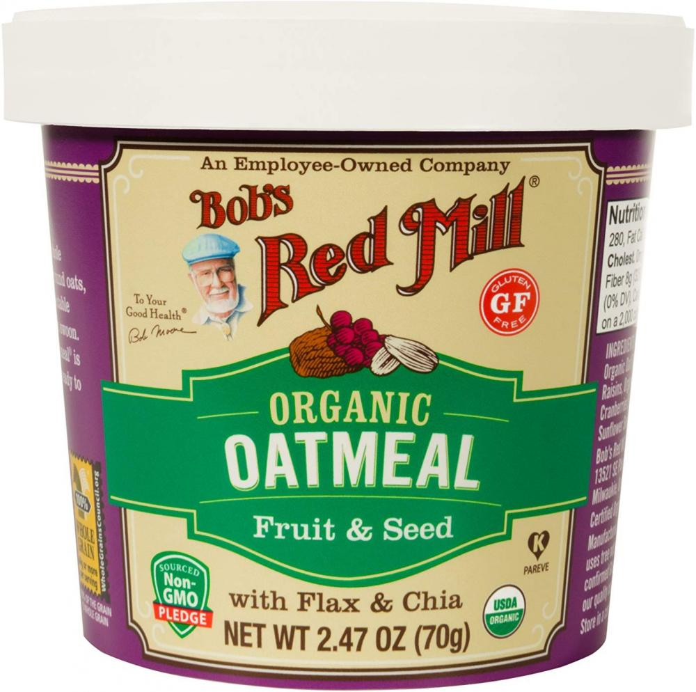 Bobs Red Mill Organic Fruit and Seed Oatmeal Cup 70g