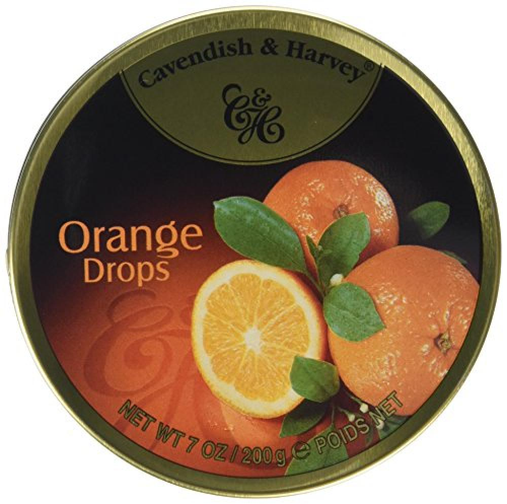 Cavendish and Harvey Travel Tin Orange Drops 200g