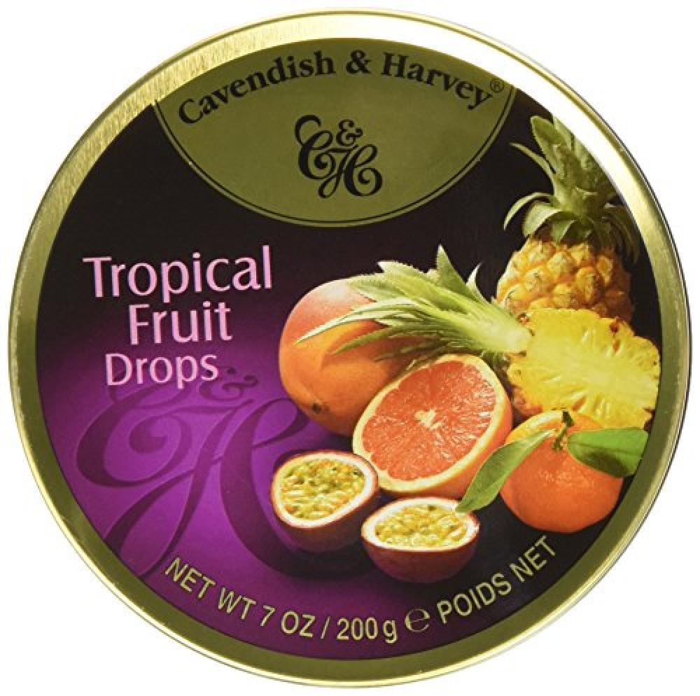 Cavendish and Harvey Travel Tin Tropical Fruit Drops 200 g